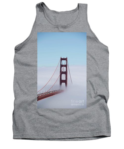 Tank Top featuring the photograph Golden Gate Fogged - 3 by David Bearden