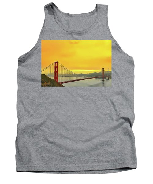 Tank Top featuring the painting Golden Gate by Harry Warrick