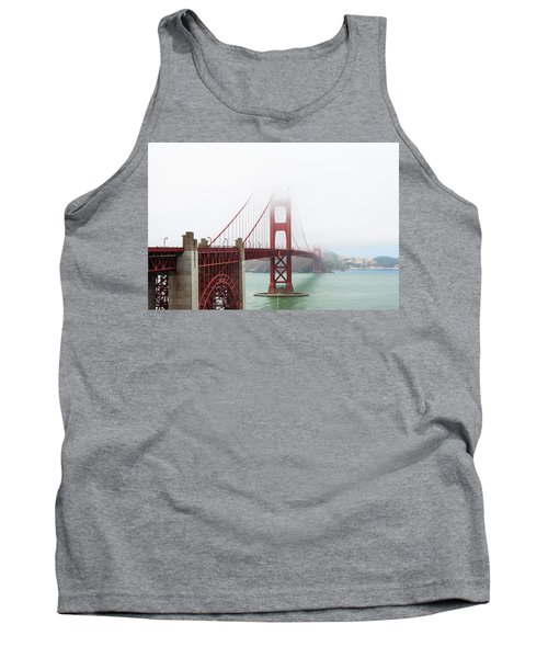 Golden Gate In The Fog Tank Top