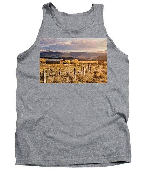 Tank Top featuring the photograph Golden Lonesome by Lana Trussell