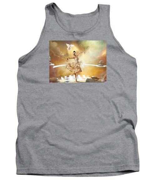 Golden Moments Tank Top by Dolores Develde