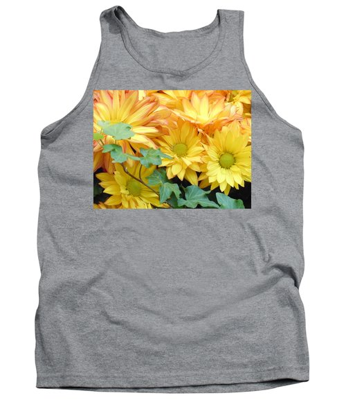 Golden Mums And Ivy Tank Top