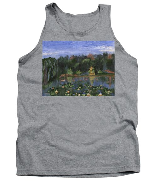 Tank Top featuring the painting Golden Pagoda by Jamie Frier