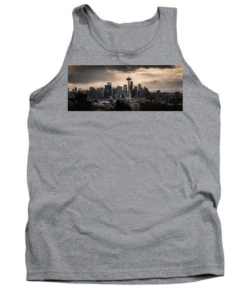 Tank Top featuring the photograph Golden Seattle by Chris McKenna