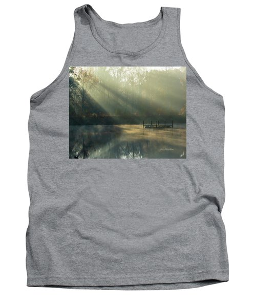 Tank Top featuring the photograph Golden Sun Rays by George Randy Bass