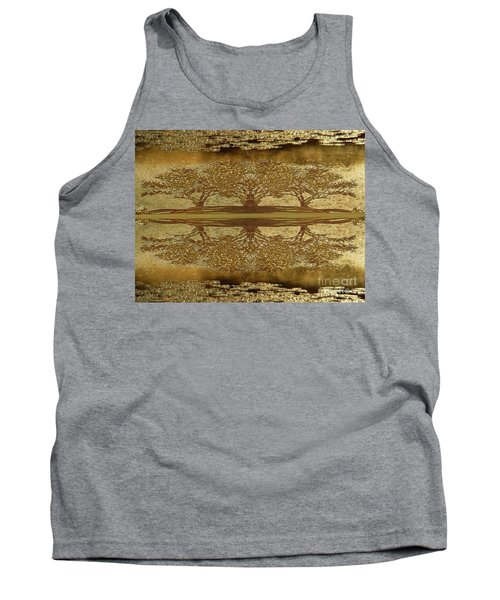 Golden Trees Reflection Tank Top