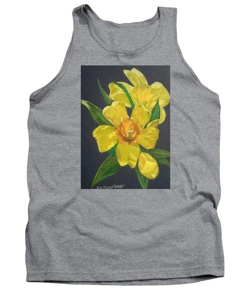 Golden Trumpet Flower - Allamanda Vine Tank Top