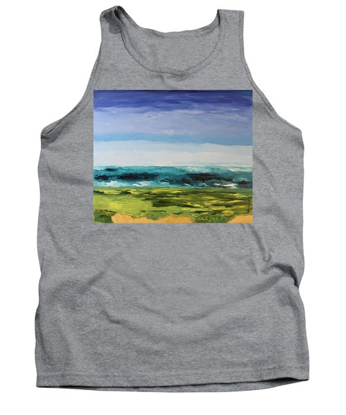 Tank Top featuring the painting Golf by Geeta Biswas