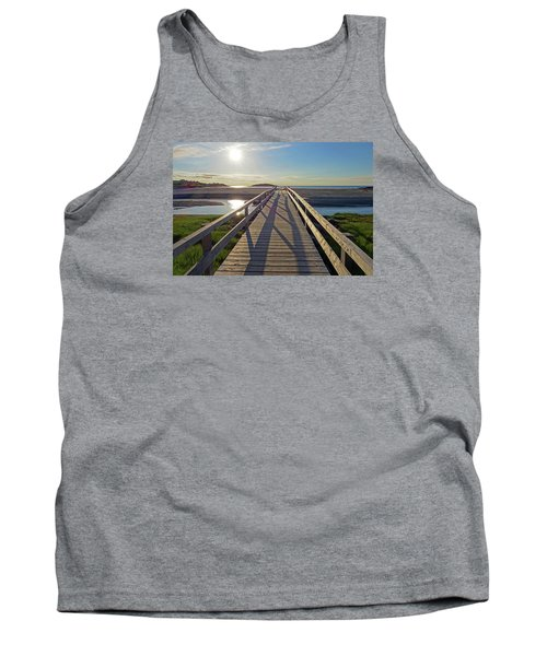 Good Harbor Beach Footbridge Sunny Shadow Tank Top