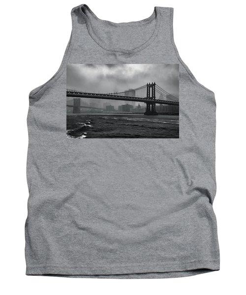 Manhattan Bridge In A Storm Tank Top
