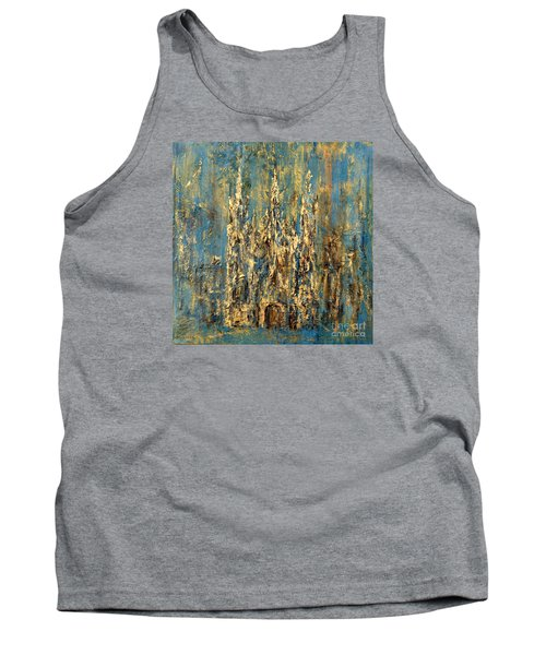 Tank Top featuring the painting Gothic Church  by Arturas Slapsys