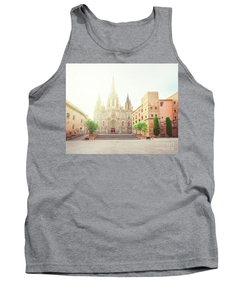 Gotic Cathedral  Of Barcelona Tank Top
