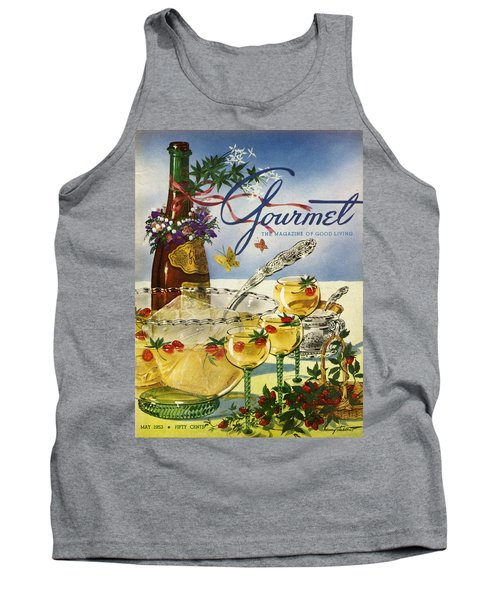 Gourmet Cover Featuring A Bowl And Glasses Tank Top