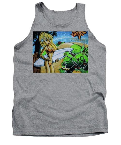Graffiti-surfgirl Tank Top