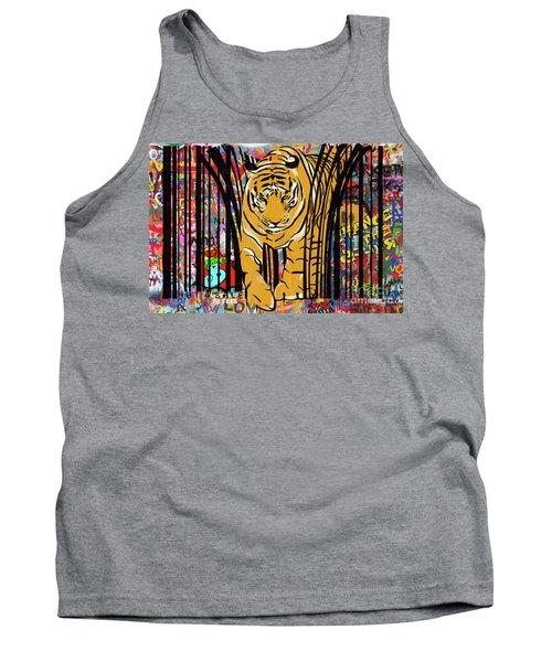 Graffiti Tiger Tank Top