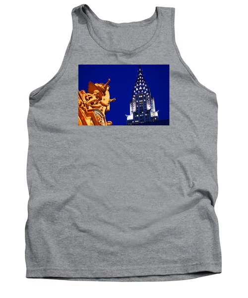 Grand Central Station And Chrysler Building Tank Top by James Kirkikis