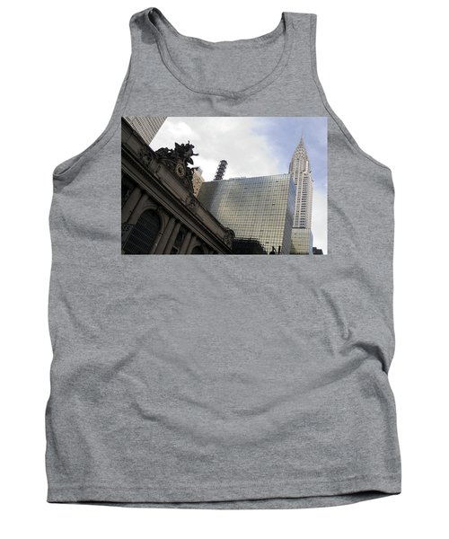 Grand Central And The Chrysler Building Tank Top by Michael Dorn