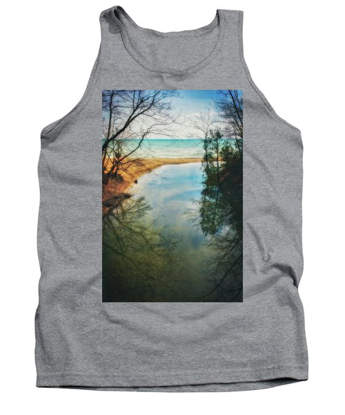 Grant Park - Lake Michigan Shoreline Tank Top by Jennifer Rondinelli Reilly - Fine Art Photography