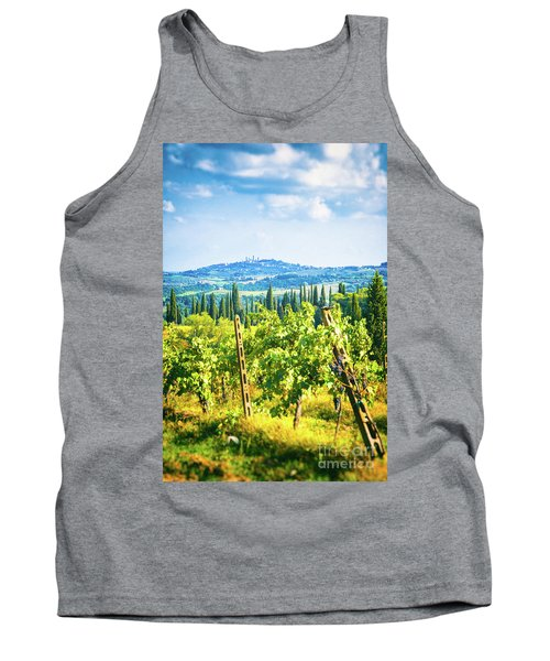 Tank Top featuring the photograph Grapevine In San Gimignano Tuscany by Silvia Ganora