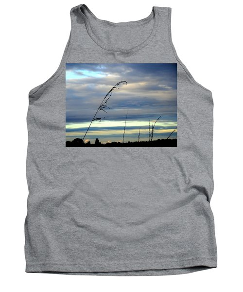 Grass Against Abstract Sky Tank Top