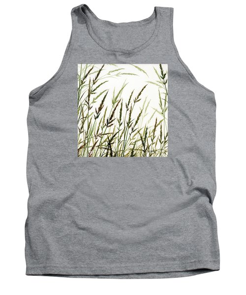 Tank Top featuring the painting Grass Design by James Williamson
