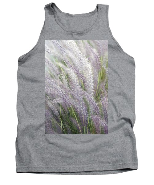 Tank Top featuring the photograph Grass Is More - Nature In Purple And Green by Ben and Raisa Gertsberg