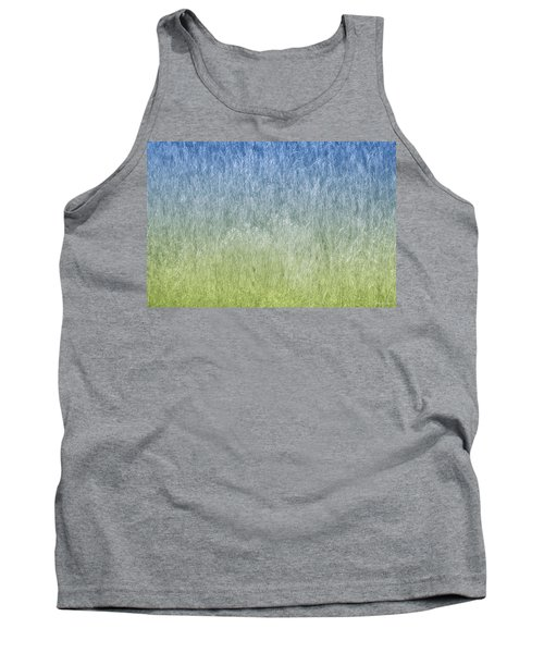 Grass On Blue And Green Tank Top