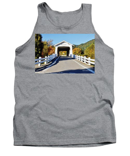 Grave Creek Covered Bridge 1 Tank Top by Ansel Price
