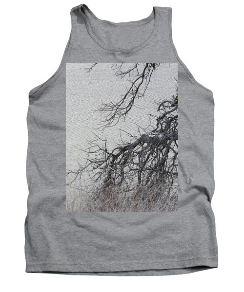 Gray Day At The Lake - Bare Branches Tank Top by Brooks Garten Hauschild