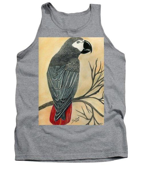 Gray Parrot Tank Top
