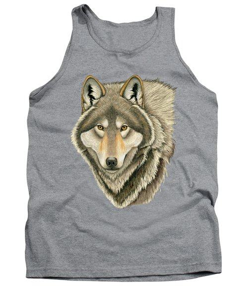 Gray Wolf Portrait Tank Top