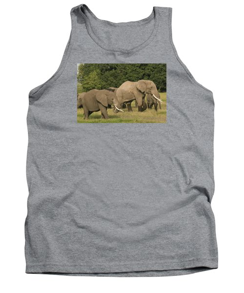 Tank Top featuring the photograph Grazing Elephants by Gary Hall