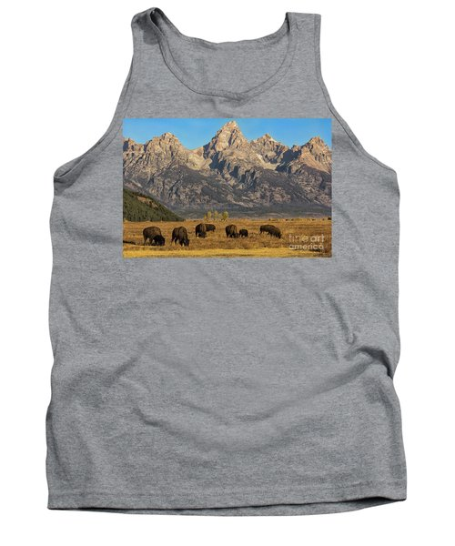 Grazing Under The Tetons Wildlife Art By Kaylyn Franks Tank Top