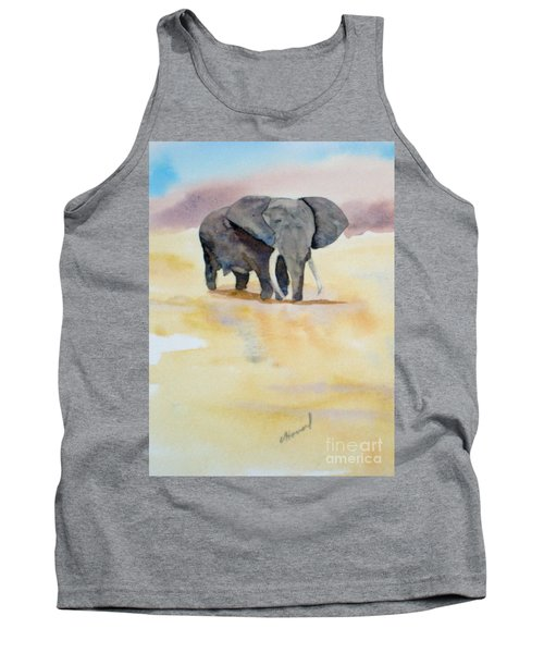 Tank Top featuring the painting Great African Elephant  by Vicki  Housel
