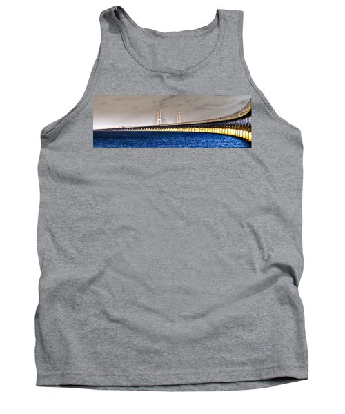 Tank Top featuring the photograph Great Belt Bridge by Gert Lavsen