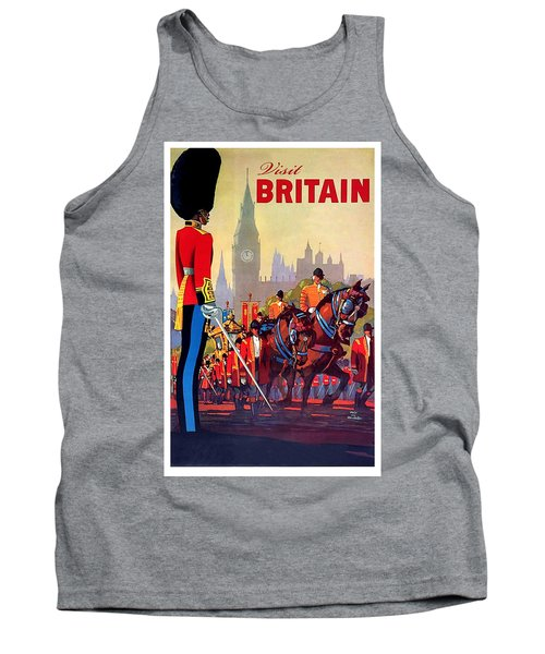 Great Britain, Royal Parade, Travel Poster Tank Top