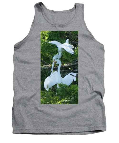 Great Egrets Horsing Around Tank Top