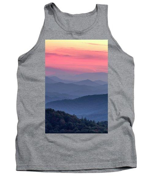 Great Smoky Mountain Sunset Tank Top