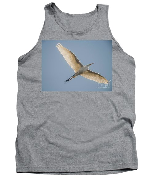 Tank Top featuring the photograph Great White Egret by David Bearden