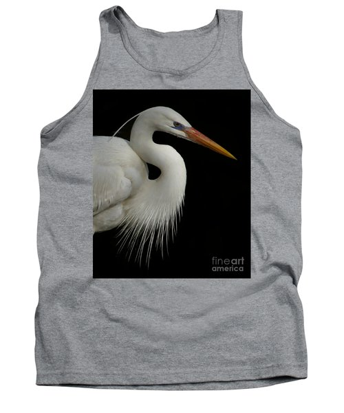 Great White Heron Portrait Tank Top by Myrna Bradshaw