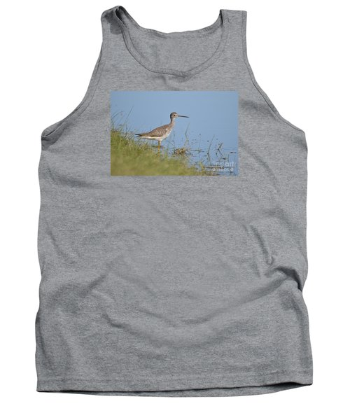 Tank Top featuring the photograph Greater Yellowlegs by Kathy Gibbons