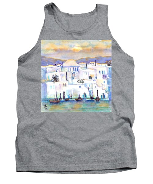 Greece- The White Houses Of Mykonos Tank Top