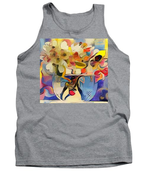 Greek Flowers Tank Top