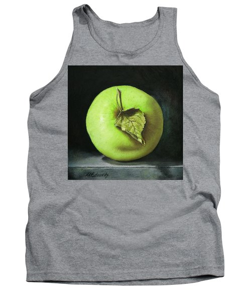 Green Apple With Leaf Tank Top