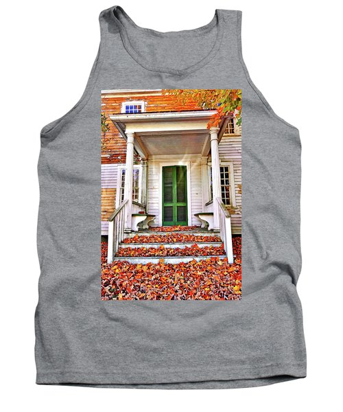 Green Autumn Door Tank Top