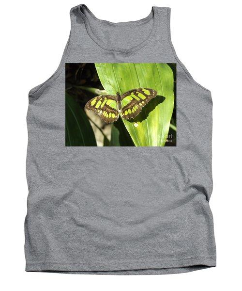 Green Butterfly Tank Top by Erick Schmidt