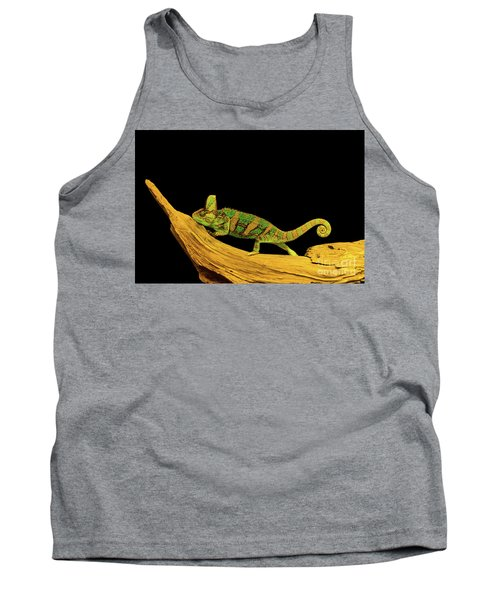 Green Chameleon Tank Top