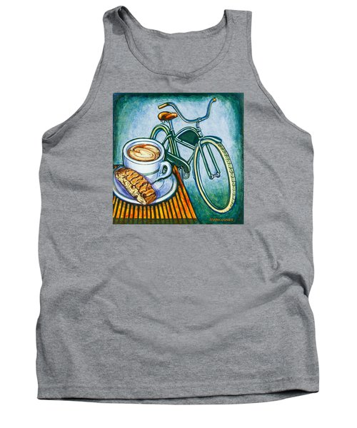 Green Electra Delivery Bicycle Coffee And Biscotti Tank Top