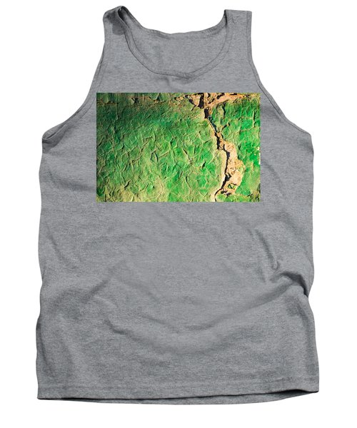 Green Flaking Brickwork Tank Top