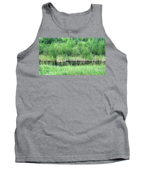 Green Grass Black Water Tank Top